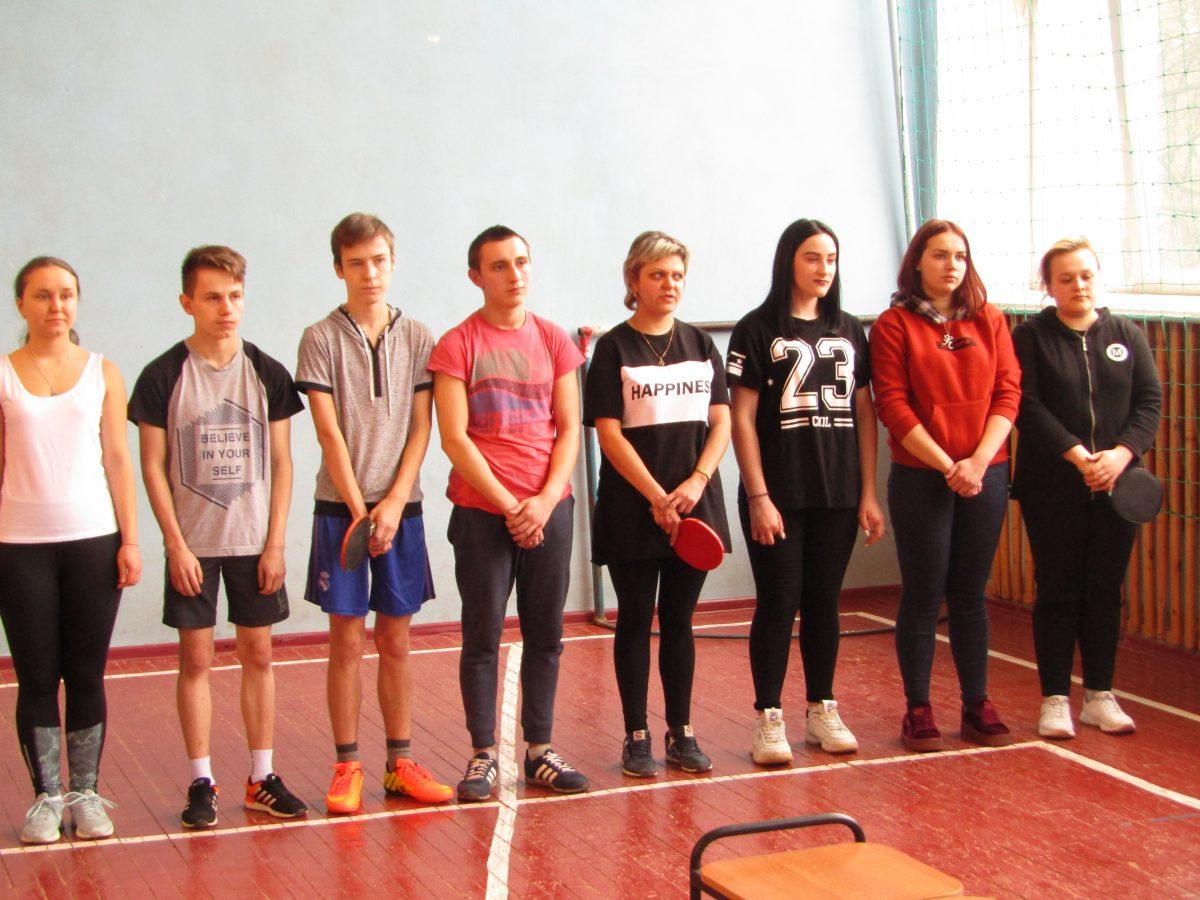Личное первенство среди обучающихся по настольному теннису